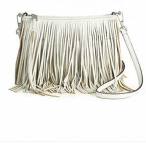 White Fringe Rebecca Minkoff Crossbody purse
